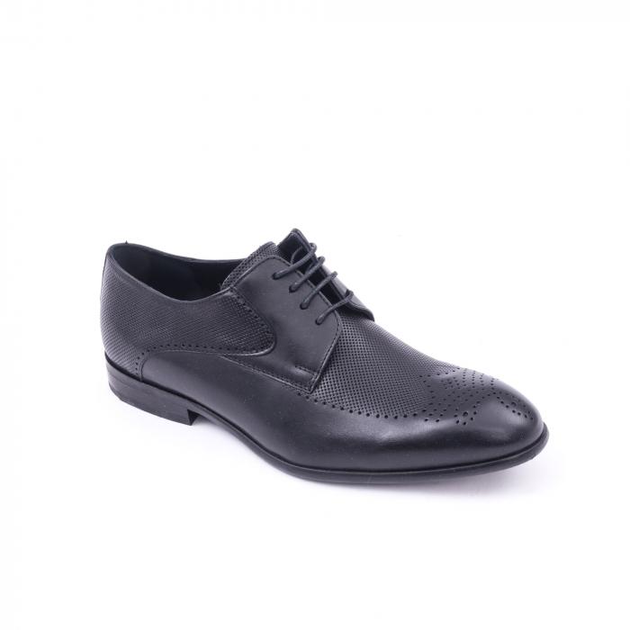 Pantofi barbati eleganti piele naturala Nevalis 116, negru 0