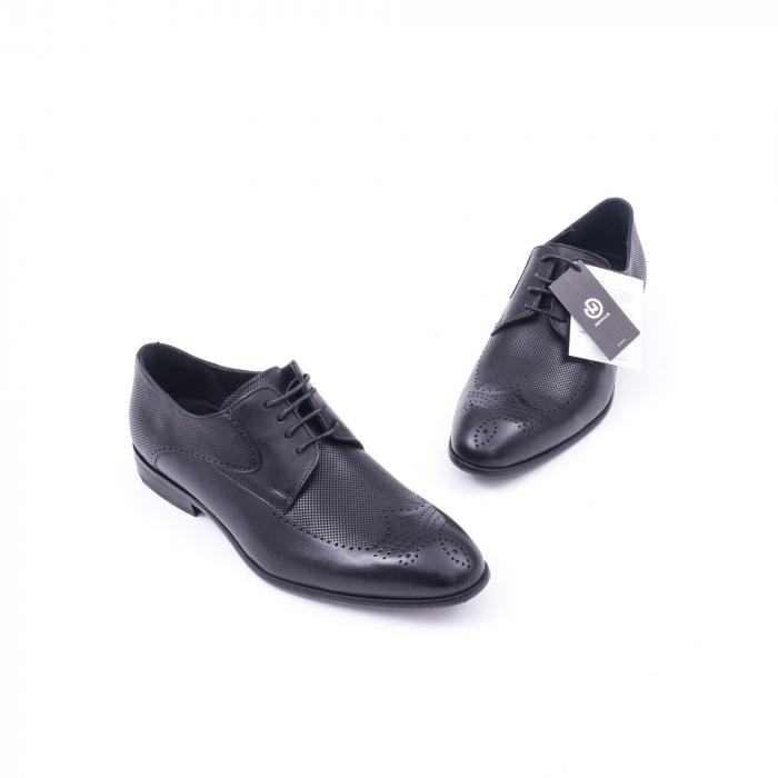 Pantofi barbati eleganti piele naturala Nevalis 116, negru 1