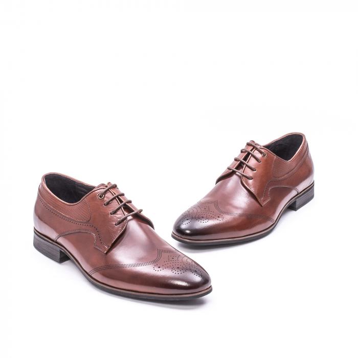Pantofi eleganti piele naturala  QRF 335655-1 maro 1