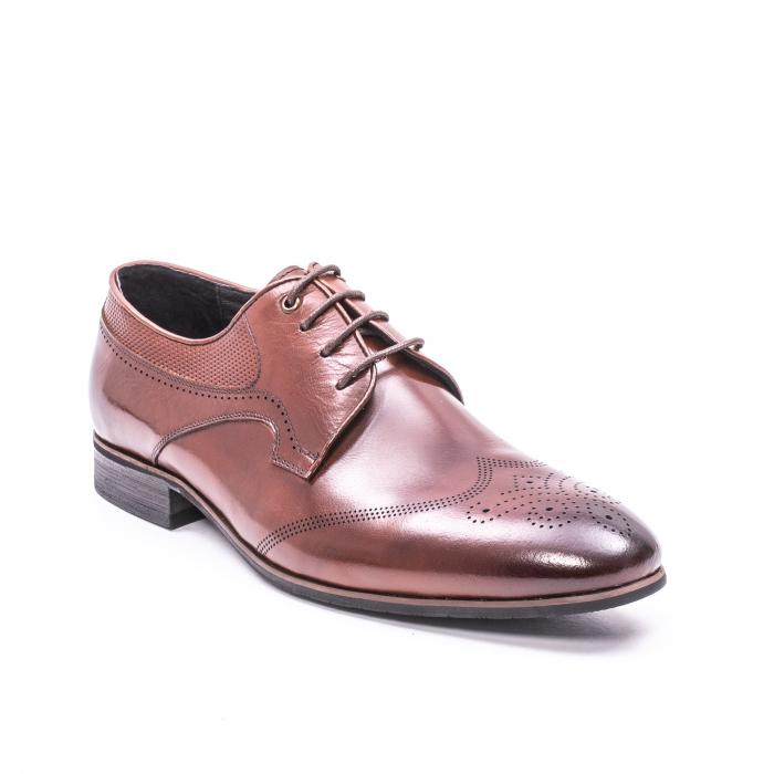 Pantofi eleganti piele naturala  QRF 335655-1 maro 0