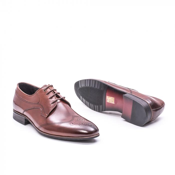 Pantofi eleganti piele naturala  QRF 335655-1 maro 3