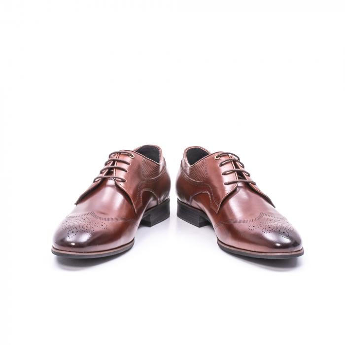 Pantofi eleganti piele naturala  QRF 335655-1 maro 4