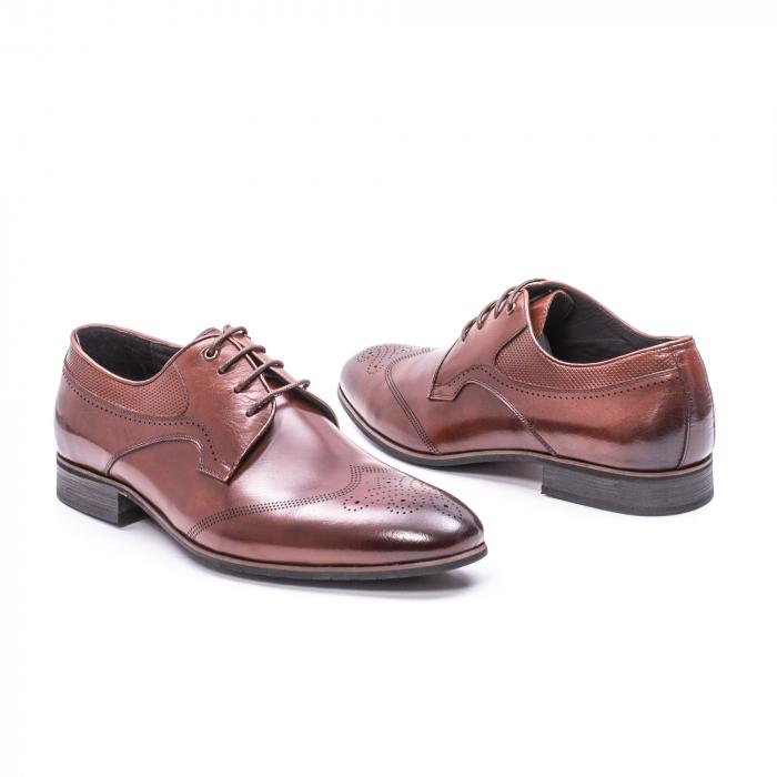 Pantofi eleganti piele naturala  QRF 335655-1 maro 2