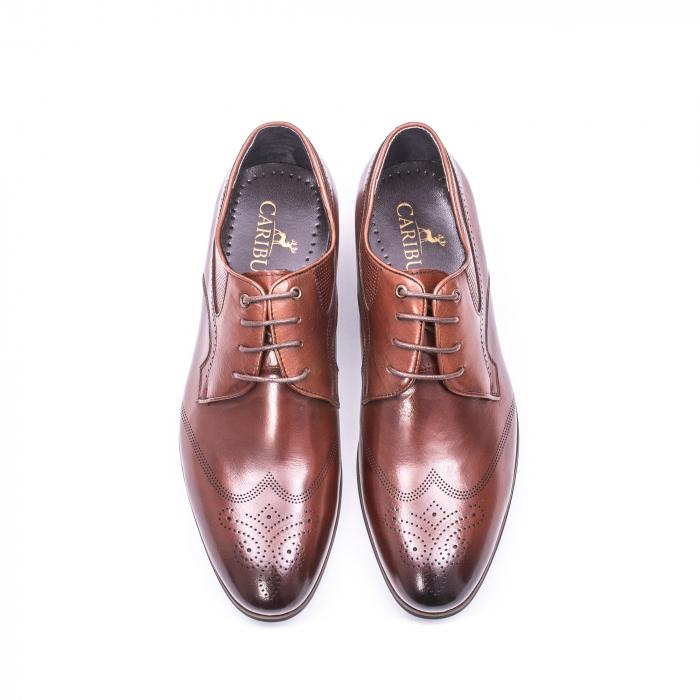 Pantofi eleganti piele naturala  QRF 335655-1 maro 5