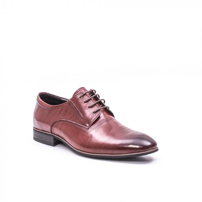 Pantofi eleganti piele naturala QRF 335692-2 23-N maro visiniu 0