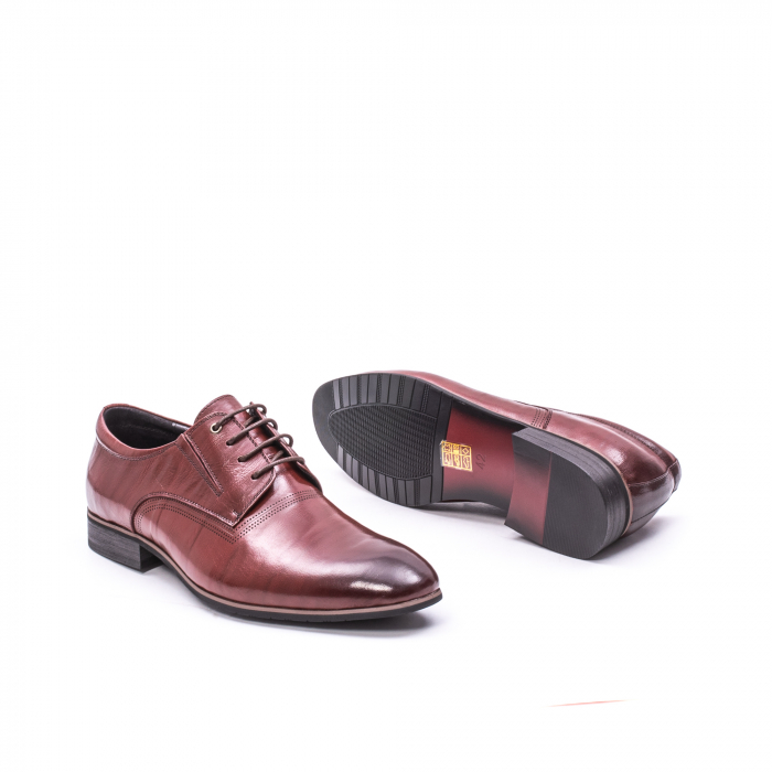 Pantofi eleganti piele naturala QRF 335692-2 23-N maro visiniu 3