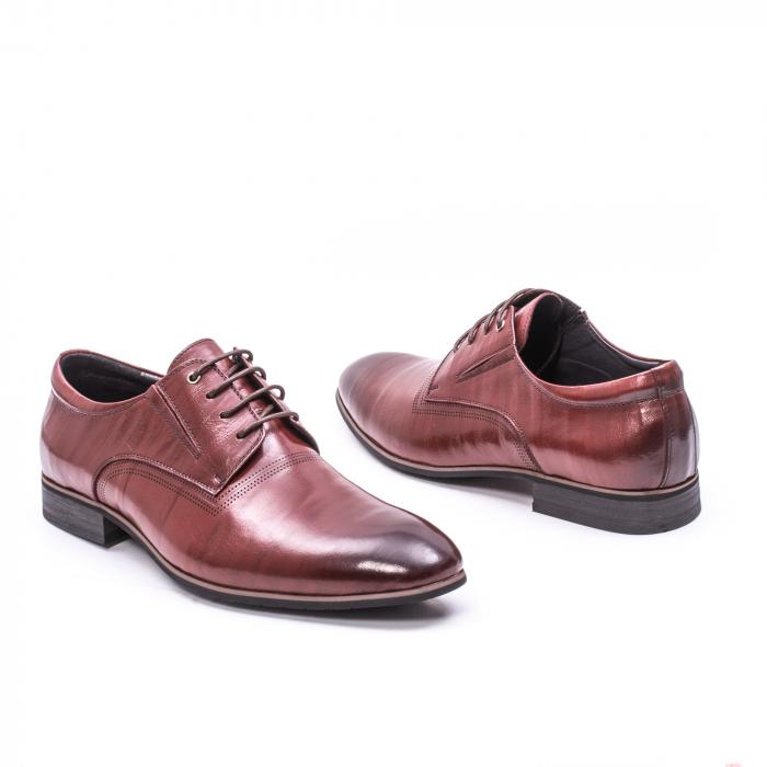 Pantofi eleganti piele naturala QRF 335692-2 23-N maro visiniu 2