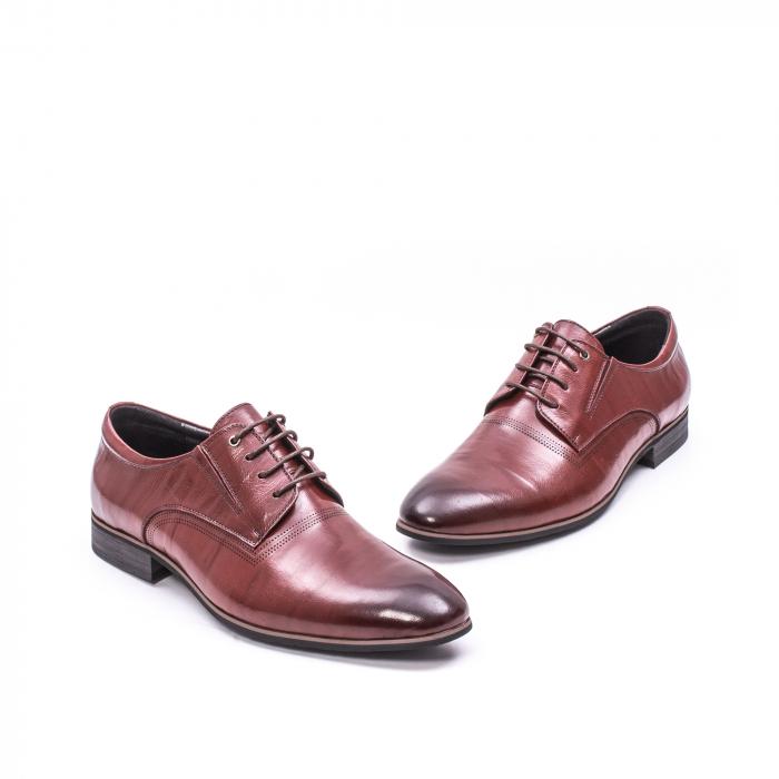 Pantofi eleganti piele naturala QRF 335692-2 23-N maro visiniu 1