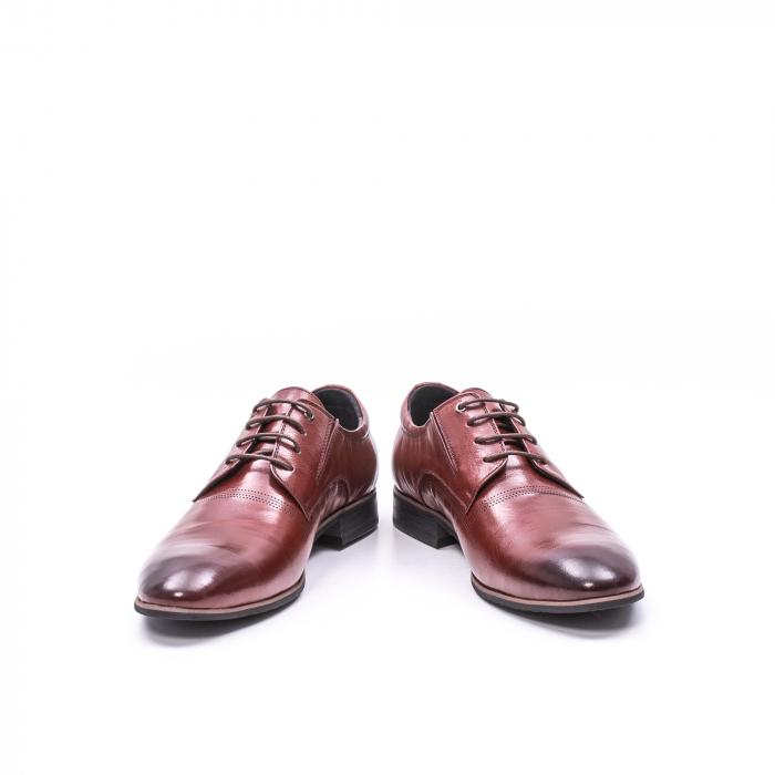 Pantofi eleganti piele naturala QRF 335692-2 23-N maro visiniu 4
