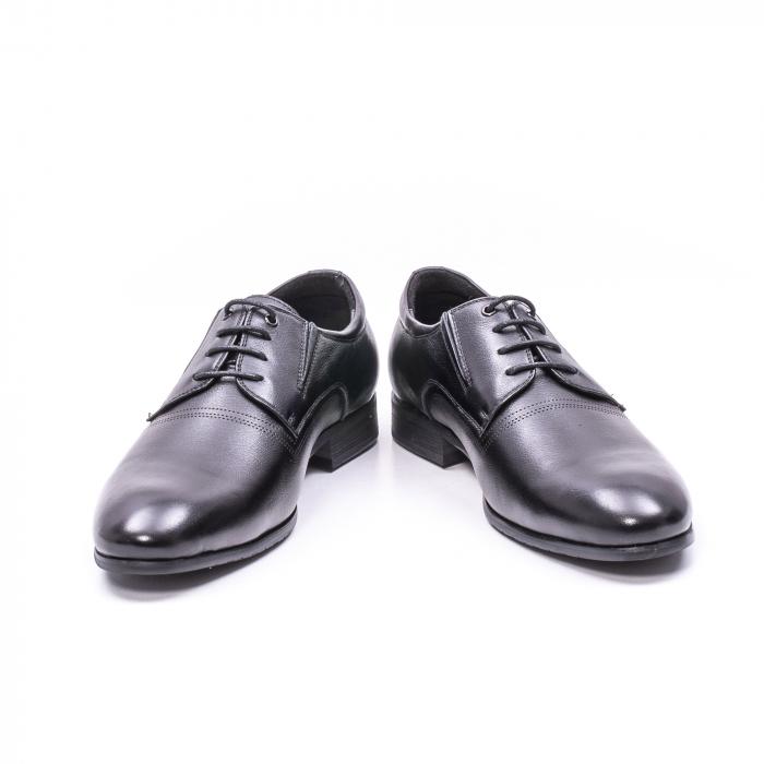 Pantofi eleganti piele naturala QRF 335692 negru 2