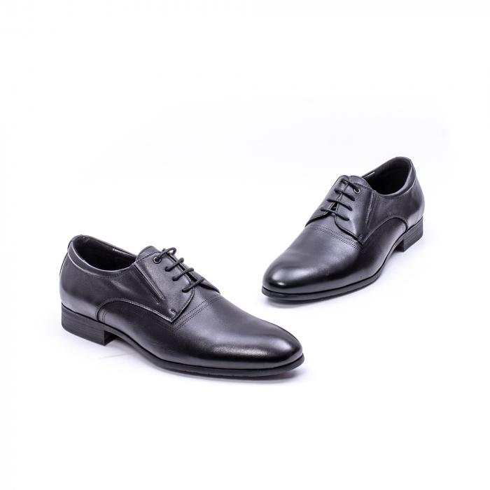 Pantofi eleganti piele naturala QRF 335692 negru 5