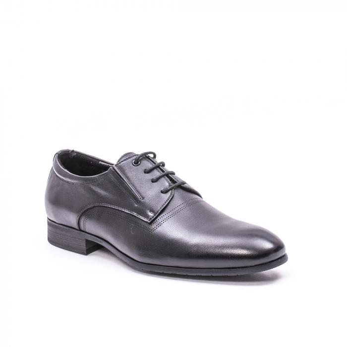 Pantofi eleganti piele naturala QRF 335692 negru 0