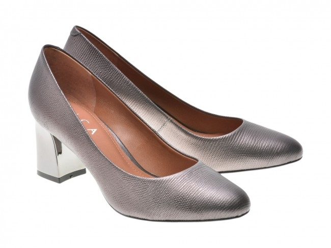 Pantofi EPICA gri, OE7122-337-455, din piele naturala 4