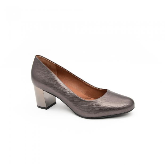 Pantofi EPICA gri, OE7122-337-455, din piele naturala 0
