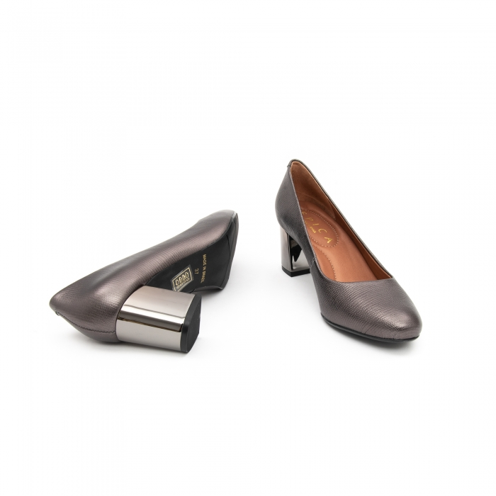 Pantofi EPICA gri, OE7122-337-455, din piele naturala 5