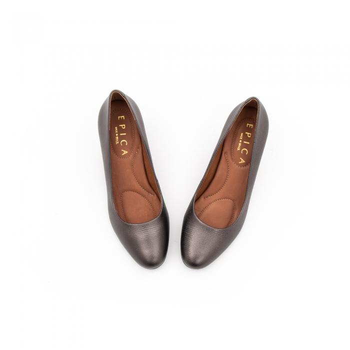 Pantofi EPICA gri, OE7122-337-455, din piele naturala 7