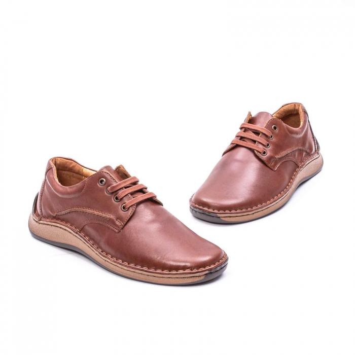 Pantofi Leofex 918 casual barbat piele naturala, maro 1