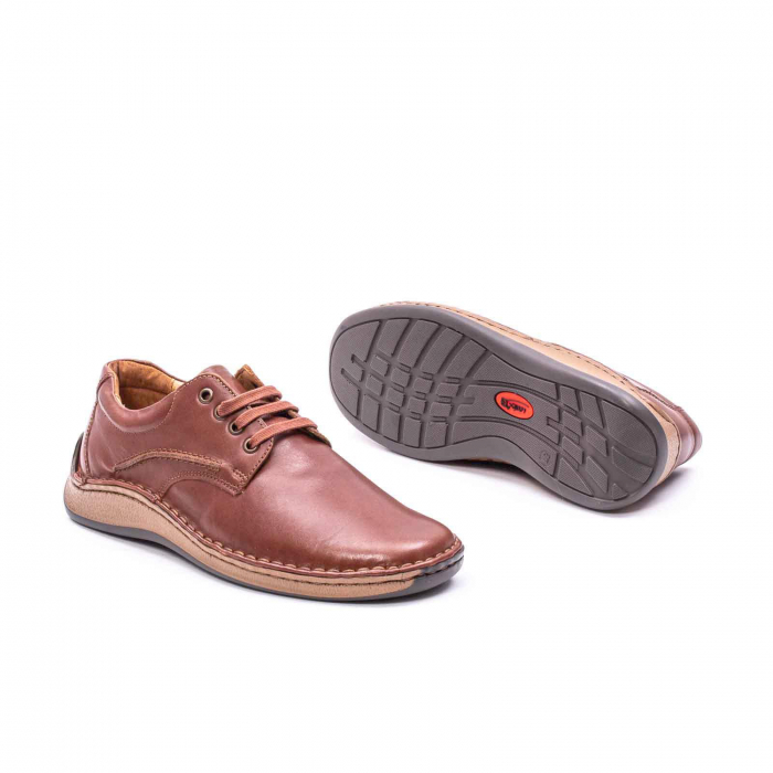 Pantofi Leofex 918 casual barbat piele naturala, maro 3
