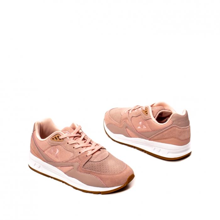 Pantofi sport dama tip Sneakers, piele naturala intoarsa, R800 W 2