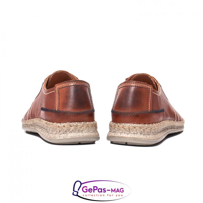 Pantofi vara barbati, piele naturala, 593 coniac [6]