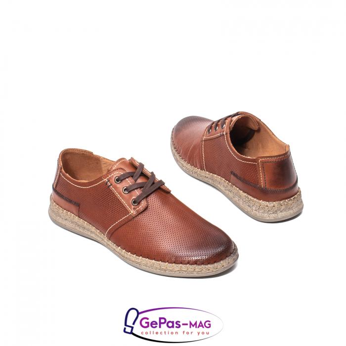 Pantofi vara barbati, piele naturala, 593 coniac [2]