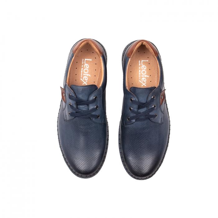Pantofi vara barbati, piele naturala, 597 Bleumarin [5]
