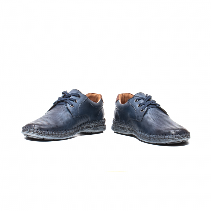 Pantofi vara barbati, piele naturala, 597 Bleumarin [4]