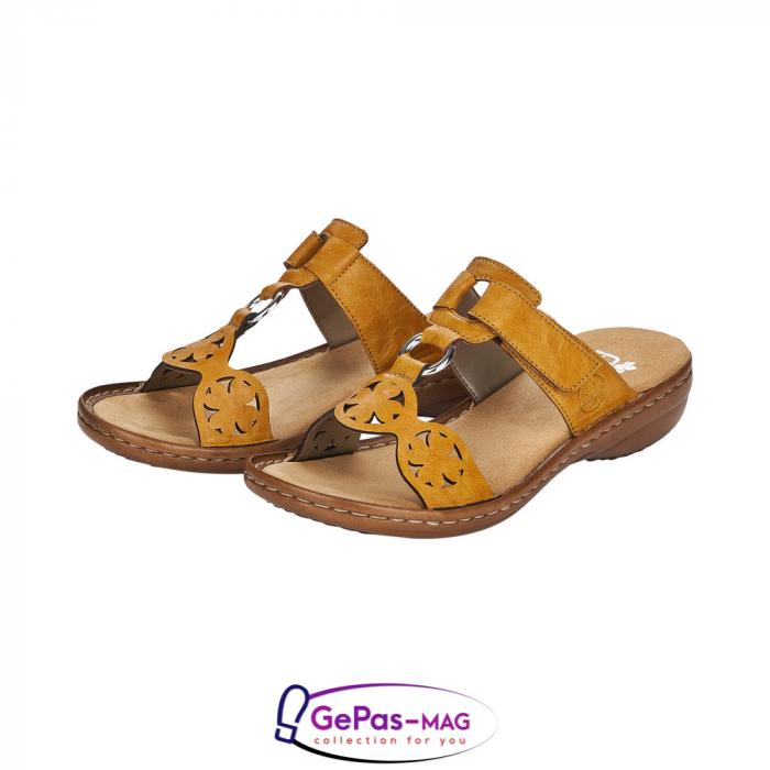 Papuci dama, piele ecologica, 60827-68 6