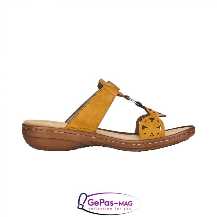 Papuci dama, piele ecologica, 60827-68 3