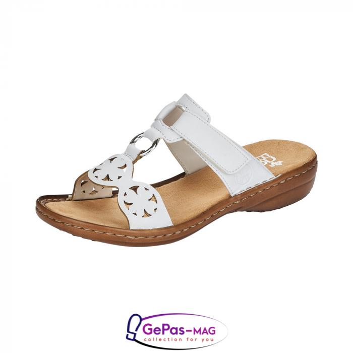 Papuci dama, piele ecologica, 60827-80 alb 0