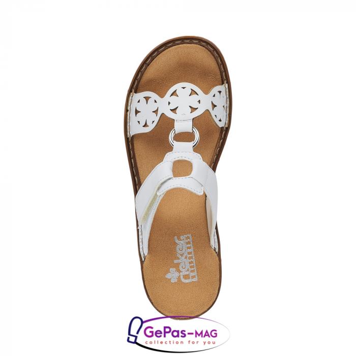 Papuci dama, piele ecologica, 60827-80 alb 4