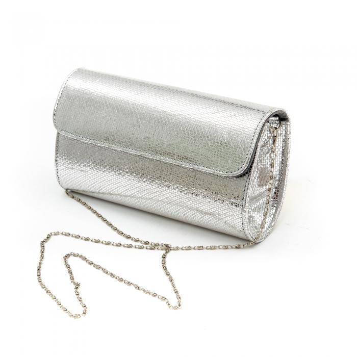 Plic butoias din piele argintiu - SOLZI 2