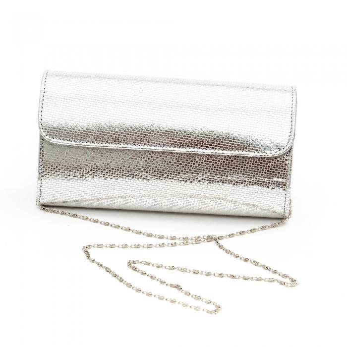 Plic butoias din piele argintiu - SOLZI 0