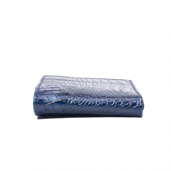 Portofel barbat piele naturala, bleumarin croco 2