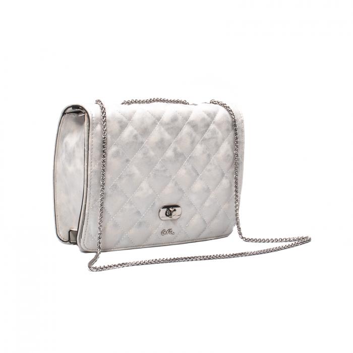 Poseta eleganta dama, Ara 21114, alb argintiu texturat [0]