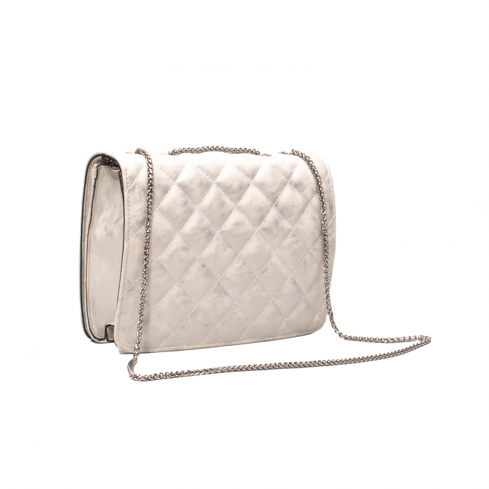Poseta eleganta dama, Ara 21114, alb argintiu texturat [2]