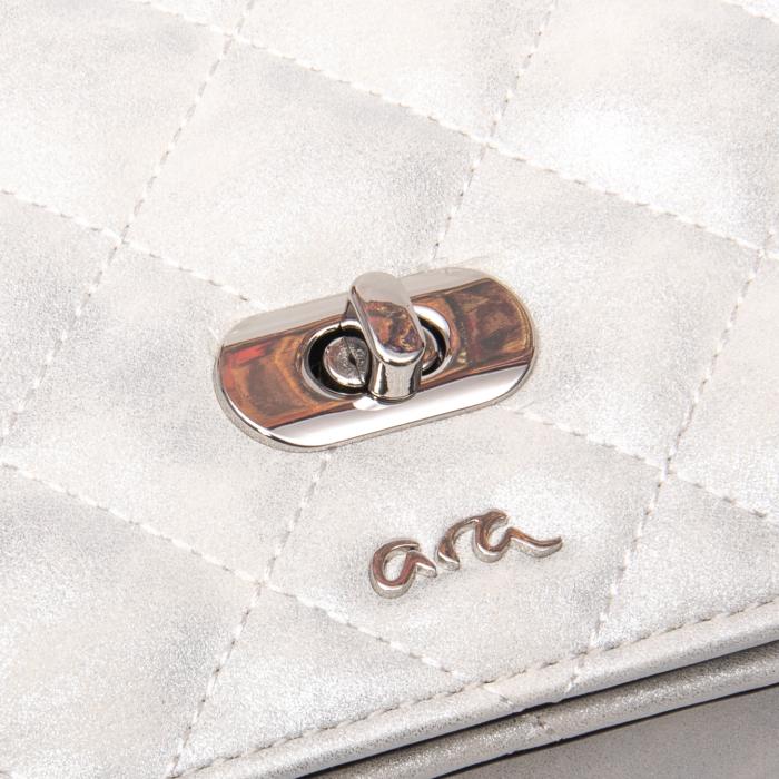 Poseta eleganta dama, Ara 21114, alb argintiu texturat [1]