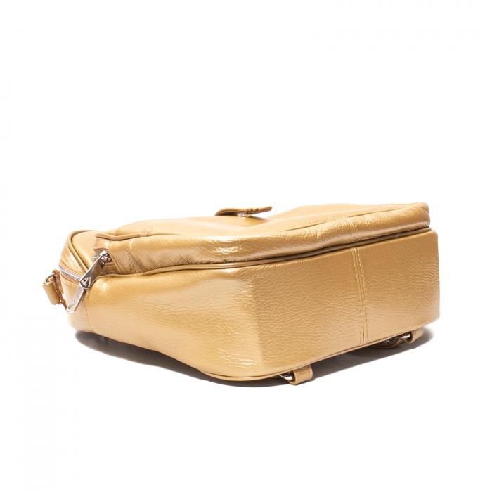 Rucsac din piele naturala Catali, model Oana 302, bronz 3