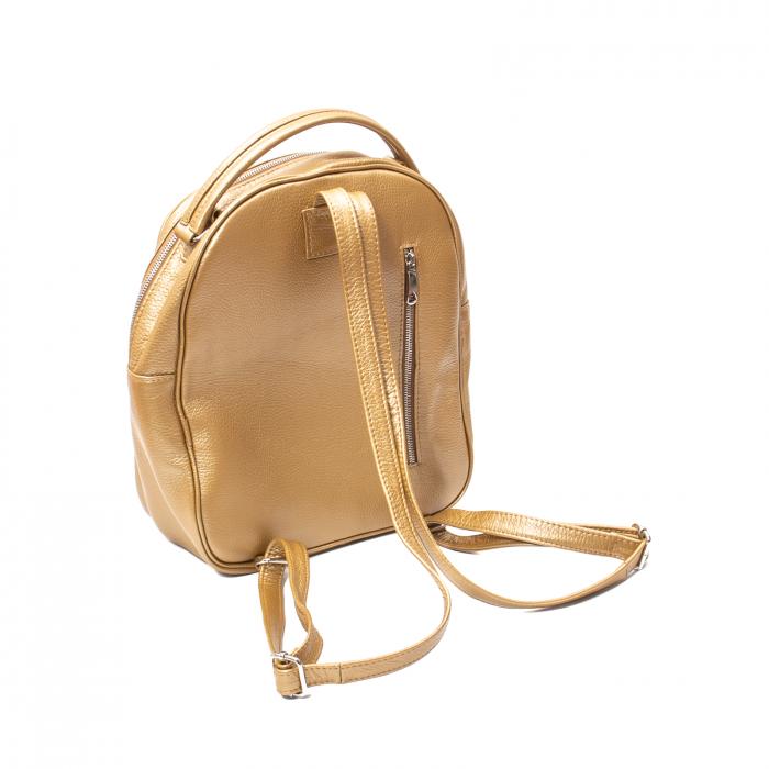 Rucsac din piele naturala Catali, model Oana 302, bronz 2