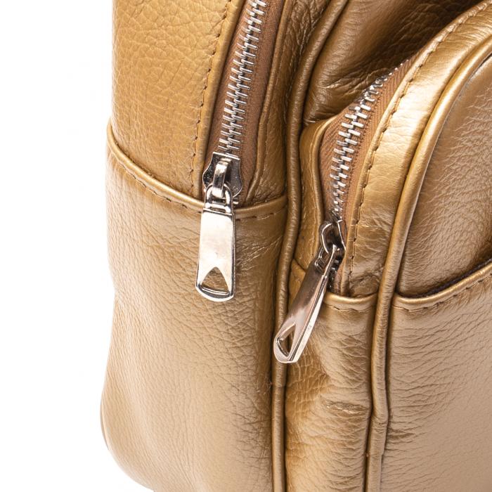 Rucsac din piele naturala Catali, model Oana 302, bronz 1