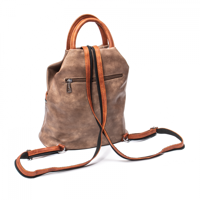 Rucsac piele ecologica Melissa 1310 taupe 2
