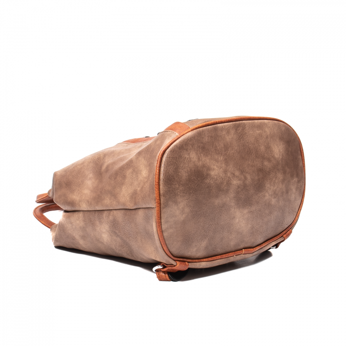 Rucsac piele ecologica Melissa 1310 taupe 3