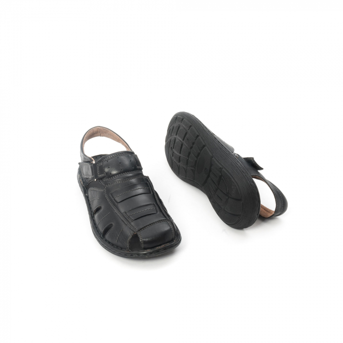 Sandale  barbat  din piele naturala ,culoare negru ,Leofex 929 . 3