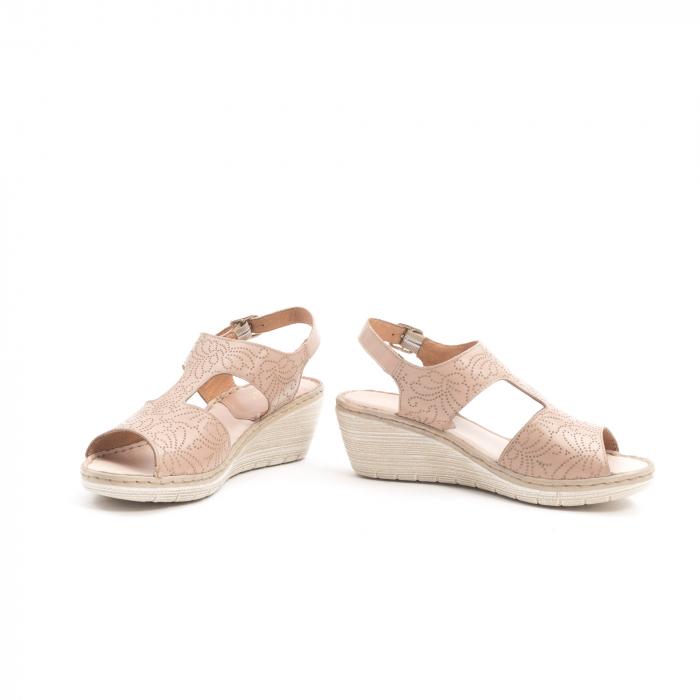 Sandale dama casual din piele naturala,Leofex  218 taupe 4