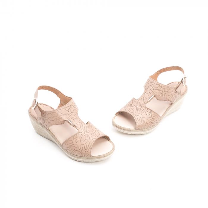 Sandale dama casual din piele naturala,Leofex  218 taupe 1