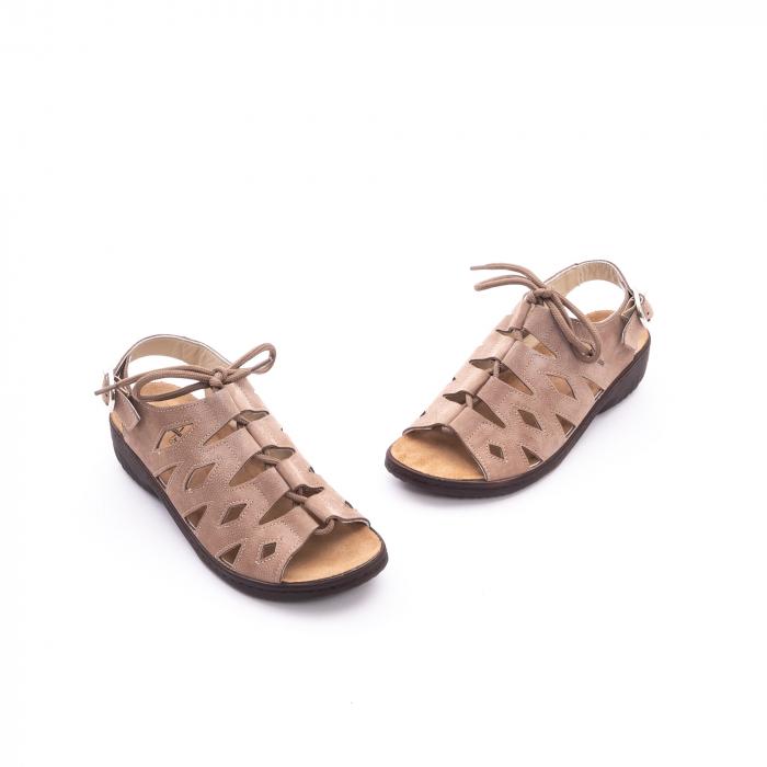 Sandale dama casual piele naturala nabuc Pass 450 03-2, bej 1