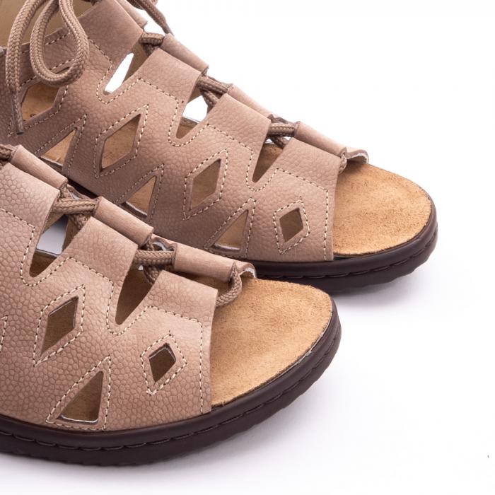 Sandale dama casual piele naturala nabuc Pass 450 03-2, bej 6