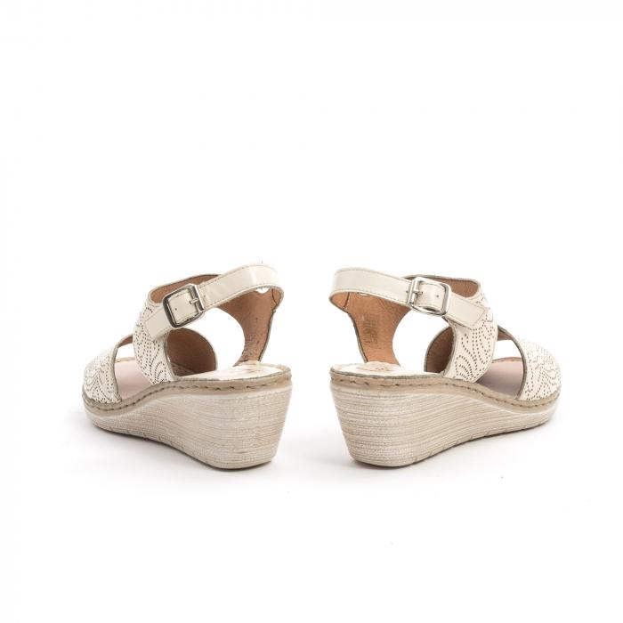 Sandale dama casual din piele naturala,Leofex 218 bej 6