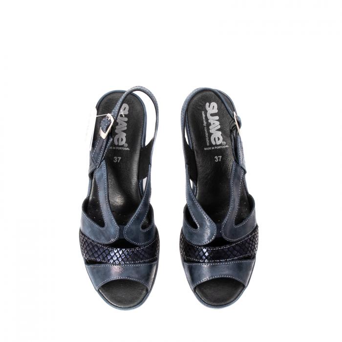 Sandale dama, piele naturala, Roma SU0259 42-N 5