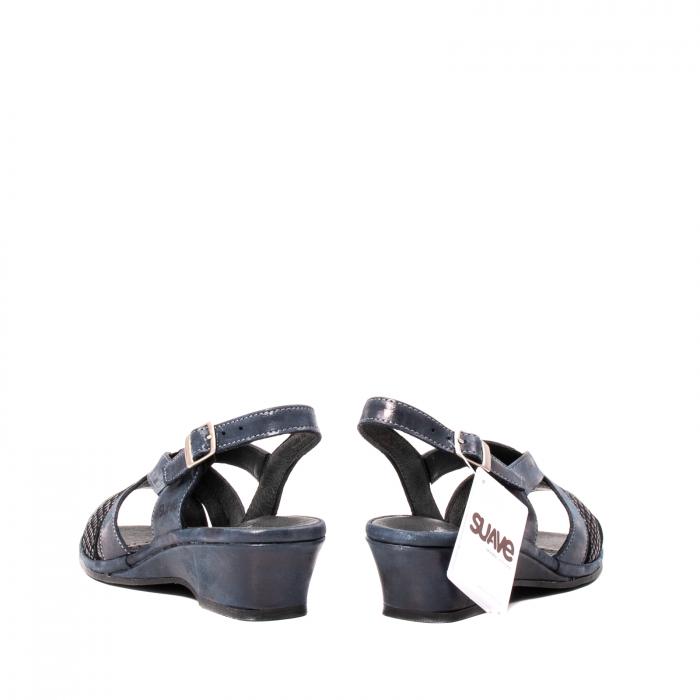 Sandale dama, piele naturala, Roma SU0259 42-N 6